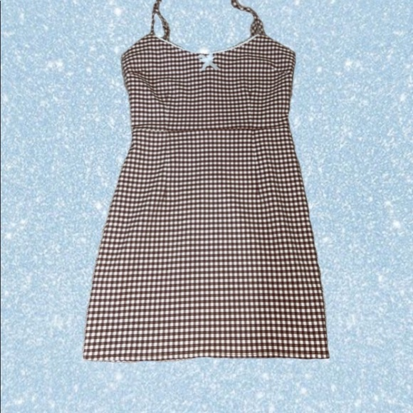 Urban Outfitters Tahoe Gingham Mini Dress